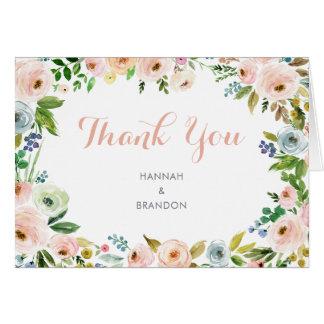 Floral Elegant Peonies Thank You Card