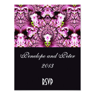 Floral Elegant Save the Date Engagement Bride Pink 11 Cm X 14 Cm Invitation Card