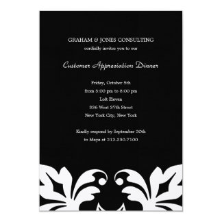 Floral Elements Corporate/Business Party Invitatio 13 Cm X 18 Cm Invitation Card