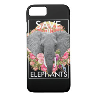 floral elephant phone case