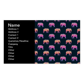 Floral Elephants Cute Girly Pattern Pack Of Standard Business Cards