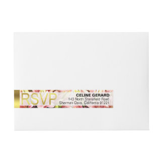 Floral Embrace Pink Calla Lilies RSVP Wraparound Address Label