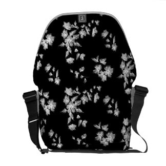 Floral embroidery courier bag