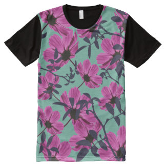 Floral Explorers All-Over Print T-Shirt