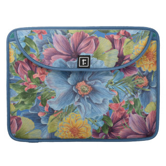 Floral Explosion Colorful Watercolors Flowers Sleeve For MacBook Pro