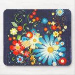 Floral explosion of colour mousepads