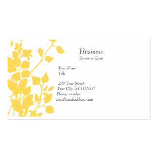 Floral Extravaganza Click Customize Pack Of Standard Business Cards