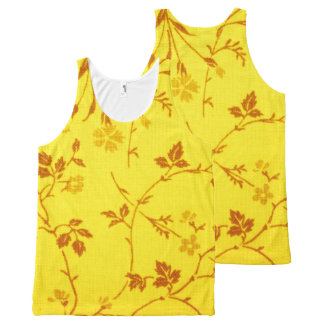 Floral Fabric All-Over Print Tank Top