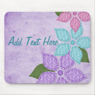 Floral Fabric Mousepad