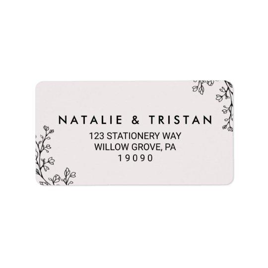 Floral Fairytale Wedding Label