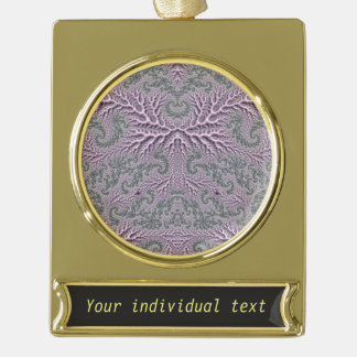 floral fantasy 05 lilac gold plated banner ornament