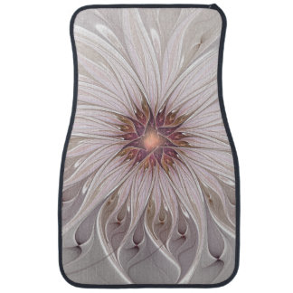 Floral Fantasy, Abstract Modern Pastel Flower Car Mat