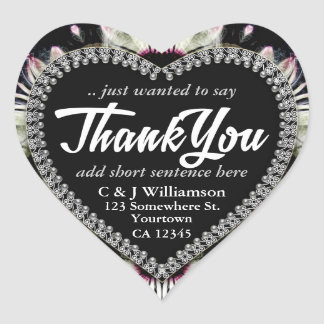 Floral Fantasy Artistry Thank You Heart Stickers