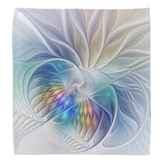 Floral Fantasy, Colourful Abstract Fractal Flower Do-rag