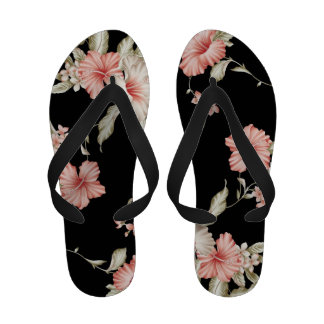 Floral Fantasy Flip Flops Sandals