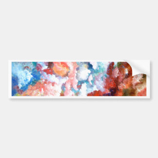 Floral Fantasy Flowers Spring Summer Pretty Bumper Sticker