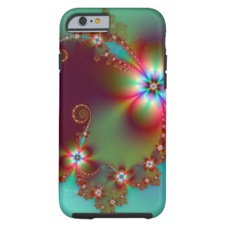 Floral Fantasy Fractal Tough iPhone 6 Case