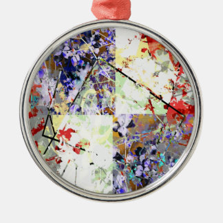 Floral Fantasy Silver-Colored Round Decoration