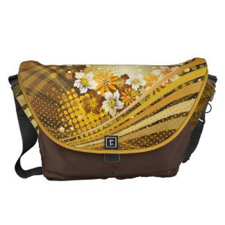 Floral Fashion 13 Messenger Bag