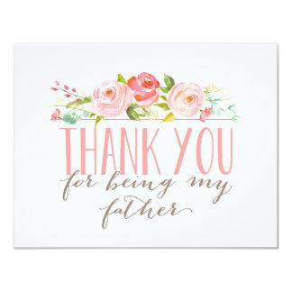Floral Father Thank You Card