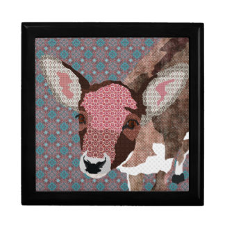 Floral Fawn Gift  Box Large Square Gift Box