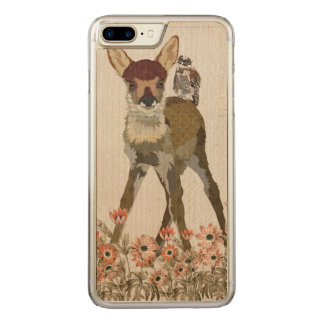 FLORAL FAWN & OWL Carved iPhone Carved iPhone 7 Plus Case
