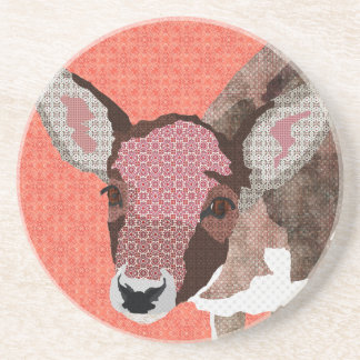 Floral Fawn Pink  Coaster