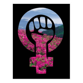 Floral Feminist Fist Postcard