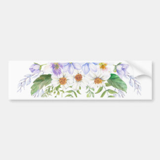 Floral Field Bouquet Bumper Sticker