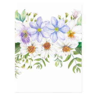 Floral Field Bouquet Postcard