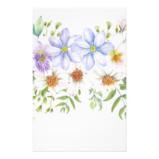 Floral Field Bouquet Stationery