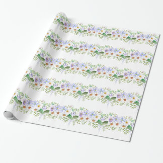 Floral Field Bouquet Wrapping Paper