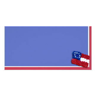 Floral Flag Personalized Photo Card