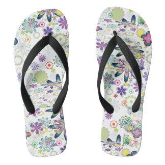 Floral Flip Flops, Graphic Florals Thongs