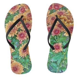 Floral Flip-Flops Thongs