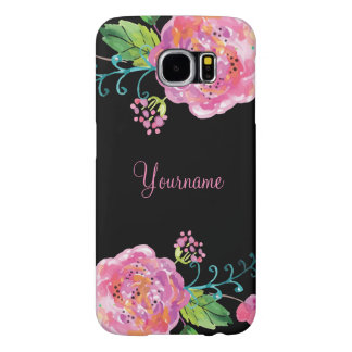 Floral Floral Monograms Samsung Galaxy S6 Cases