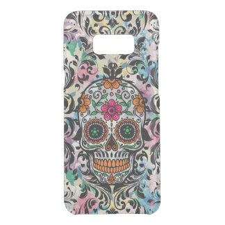Floral Floral Sugar Skull With Black Swirls Uncommon Samsung Galaxy S8 Plus Case