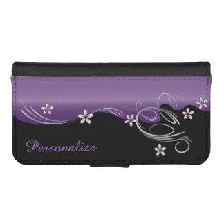 Floral Florid Amethyst Design iPhone SE/5/5s Wallet Case
