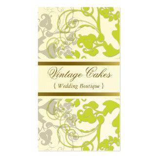 Floral Flourish Lime Green Custom Profile Card Business Card Template