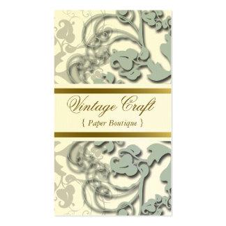 Floral Flourish Secret Blue Custom Profile Card Business Card