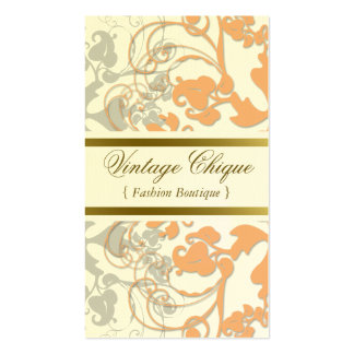 Floral Flourish Sweet Peach Custom Profile Card Business Cards