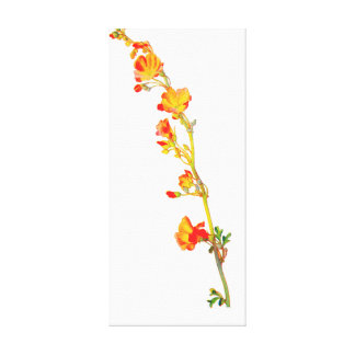 FLORAL FLOWER GALLERY WRAPPED CANVAS