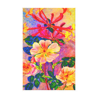 FLORAL FLOWER STRETCHED CANVAS PRINT