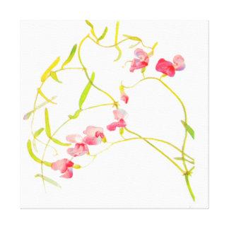 FLORAL FLOWER STRETCHED CANVAS PRINTS