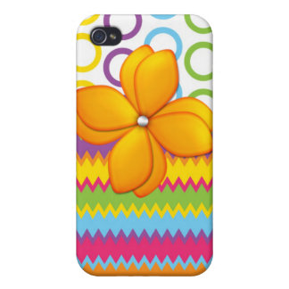 Floral Flower Circles and Zig Zag iPhone Speck Cas Case For iPhone 4