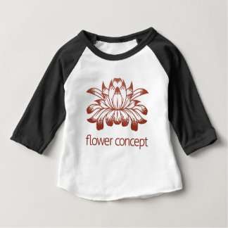 Floral Flower Design Concept Icon Baby T-Shirt