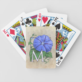 floral,flower,monogram,alphabet,classic,traditiona bicycle playing cards