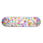 Floral flower pattern Girls Skateboard