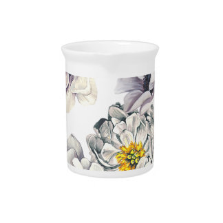 Floral Flower Peony Anemone Fresh Spring Artistic Pitcher