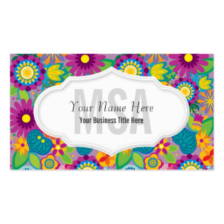 Floral Flower Power Salon Colorful Blooms Pack Of Standard Business Cards